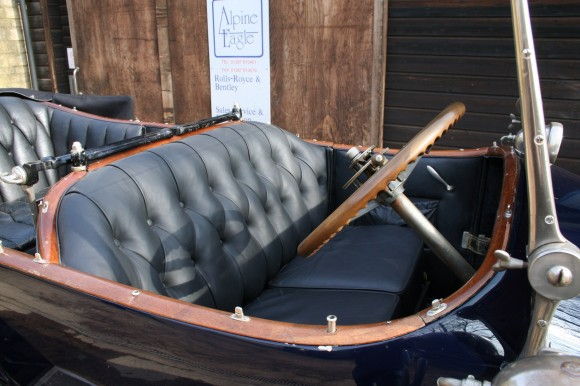 1920 Silver Ghost re-upholstered front seat
